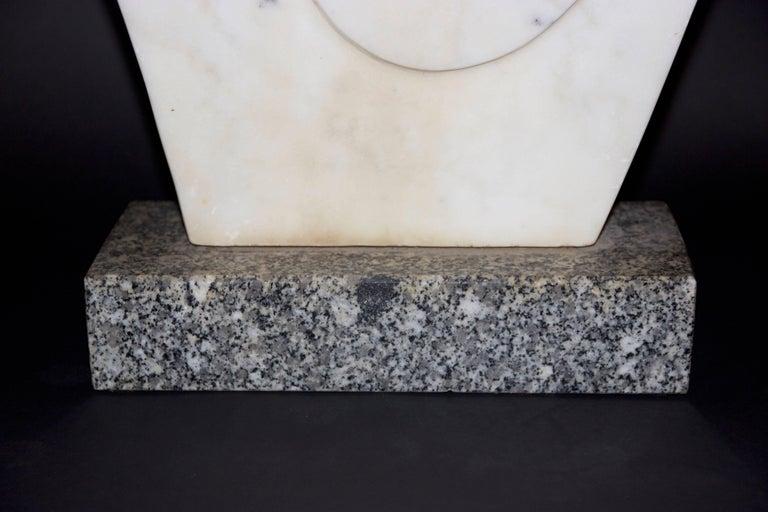 Janou Serée, Sculpture,  marble,  circa 1970, France. Measures: Height 86 cm, depth 60 cm, width 12 cm.