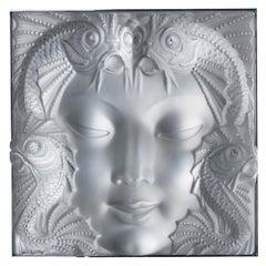 """Sculpture """"Masque de Femme"""" Lalique 1935 Signed"""