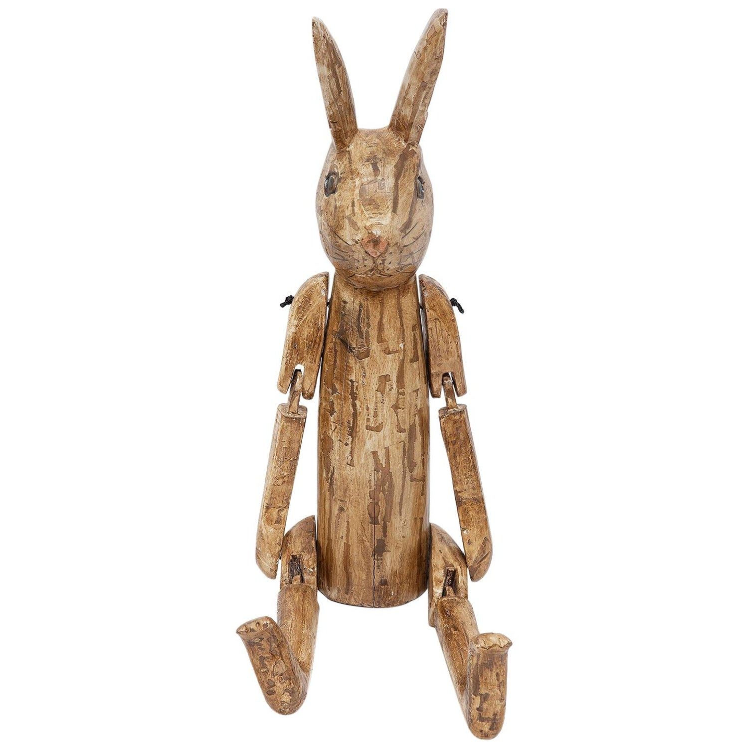 Sculpture Naive Carved Articulated Rabbit Model Artist Sculptor Height Folk
