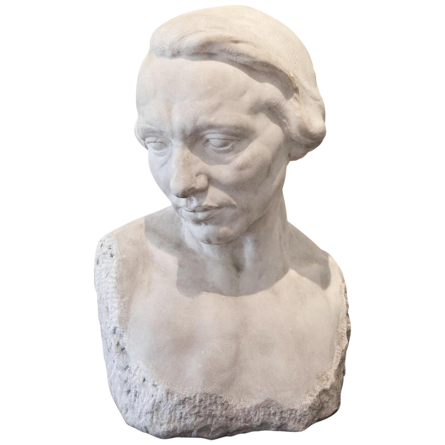 Sculpture of a Female Head, circa 1900