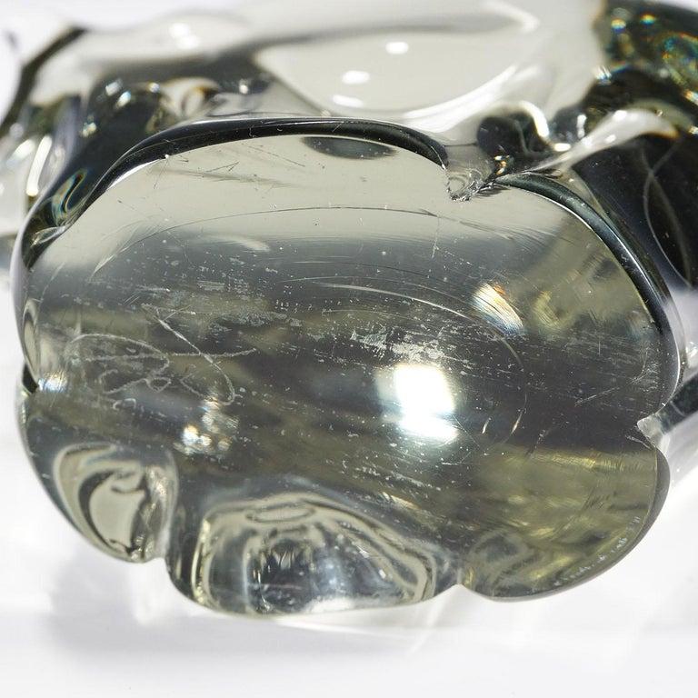 Sculpture of a Murano Glass Bison Designed by Livio Seguso, circa 1970s In Good Condition In Berghuelen, DE