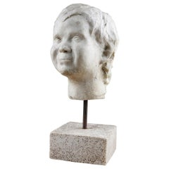 Sculpture of a Young Child's Head, 20th Century