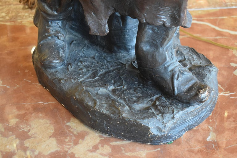 Sculpture of Blacksmith In Good Condition For Sale In Atlanta, GA