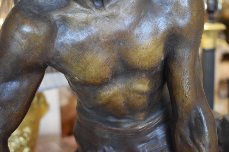 Terracotta Sculpture of Blacksmith For Sale