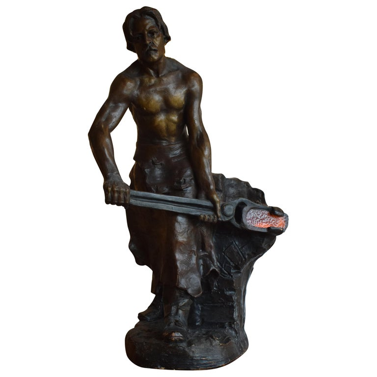 Sculpture of Blacksmith For Sale