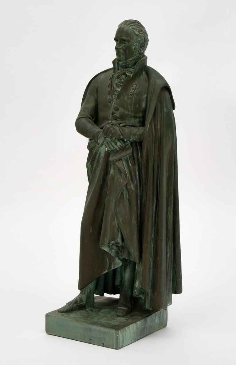 Sculpture of French Empire general made of terracotta with a bronze patina.