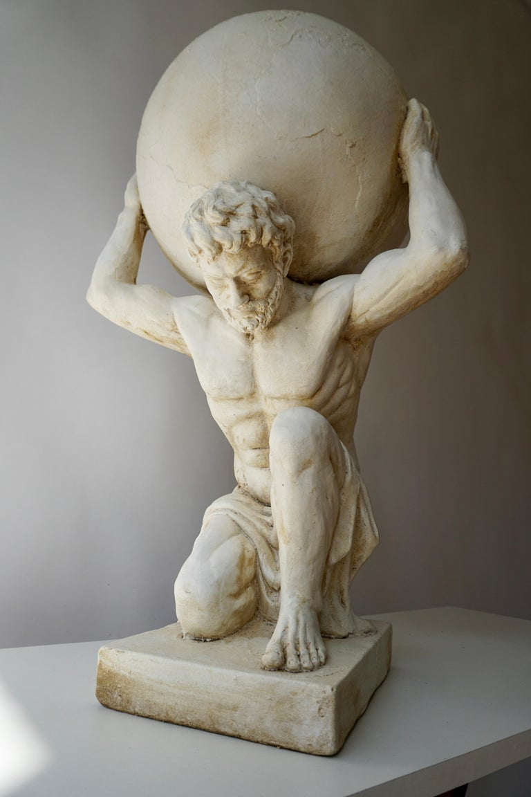 Sculpture of Hercules Bearing the World after Antonio Canova 6