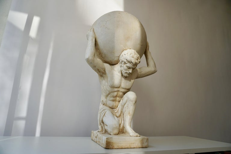 19th Century Sculpture of Hercules Bearing the World after Antonio Canova