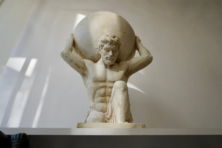 Gesso Sculpture of Hercules Bearing the World after Antonio Canova