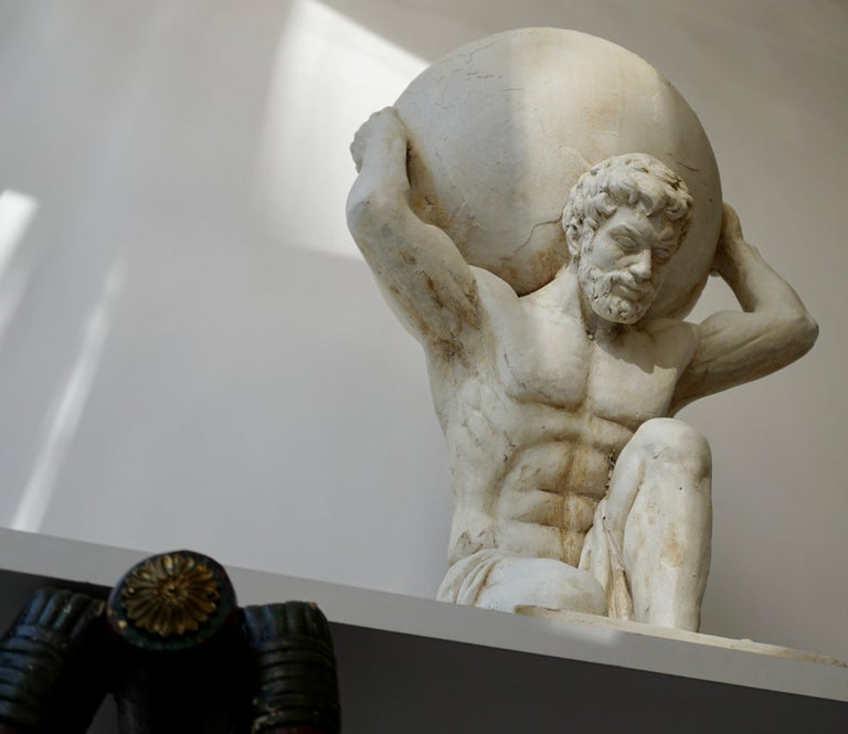 Sculpture of Hercules Bearing the World after Antonio Canova 1