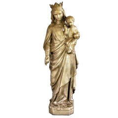 Sculpture of Mother Mary with Jesus, 19th Century