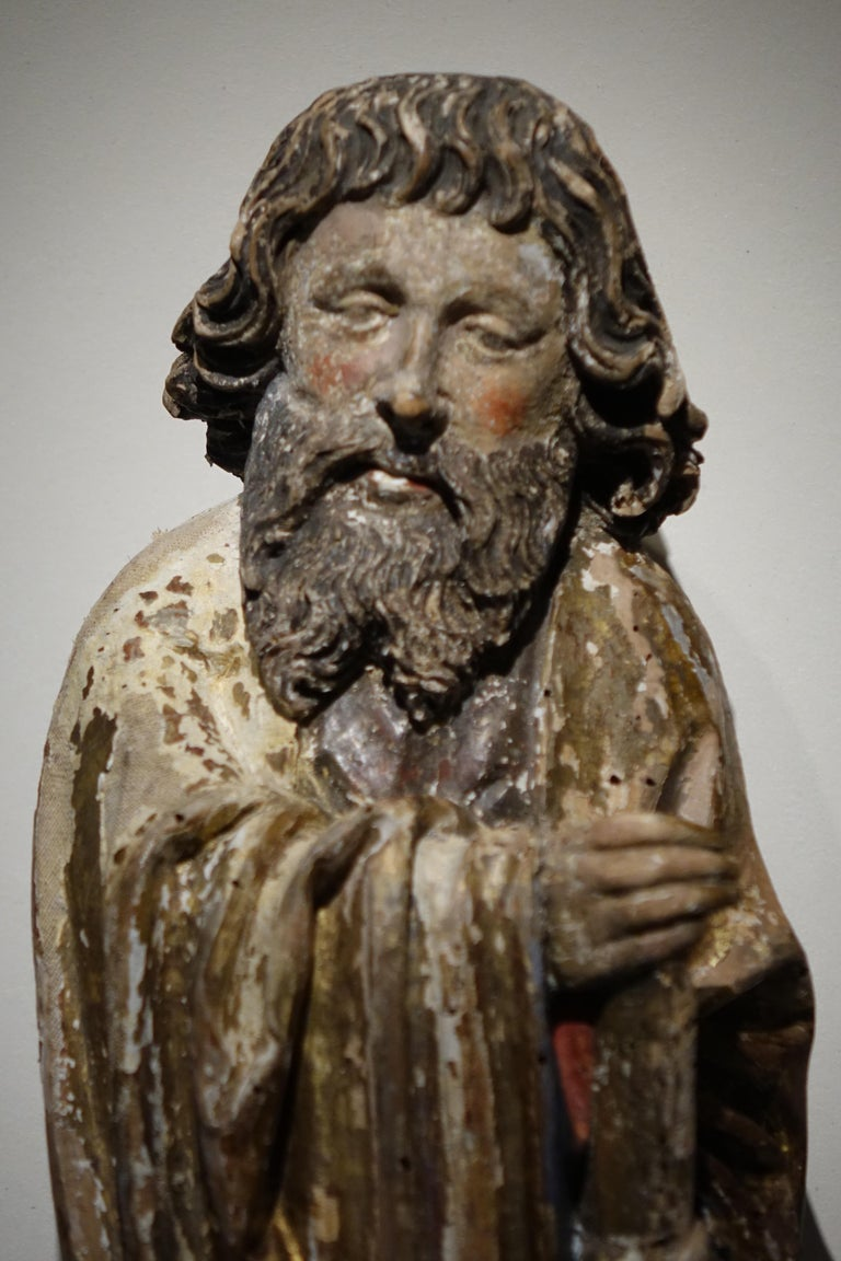 Sculpture of Saint Jacques the Minor, Burgundy, 15th century Statue representing Saint-James Saint-James refers to several Christian saints or biblical figures, the most famous being the apostle James of Zebedee, known as James the Major. We are