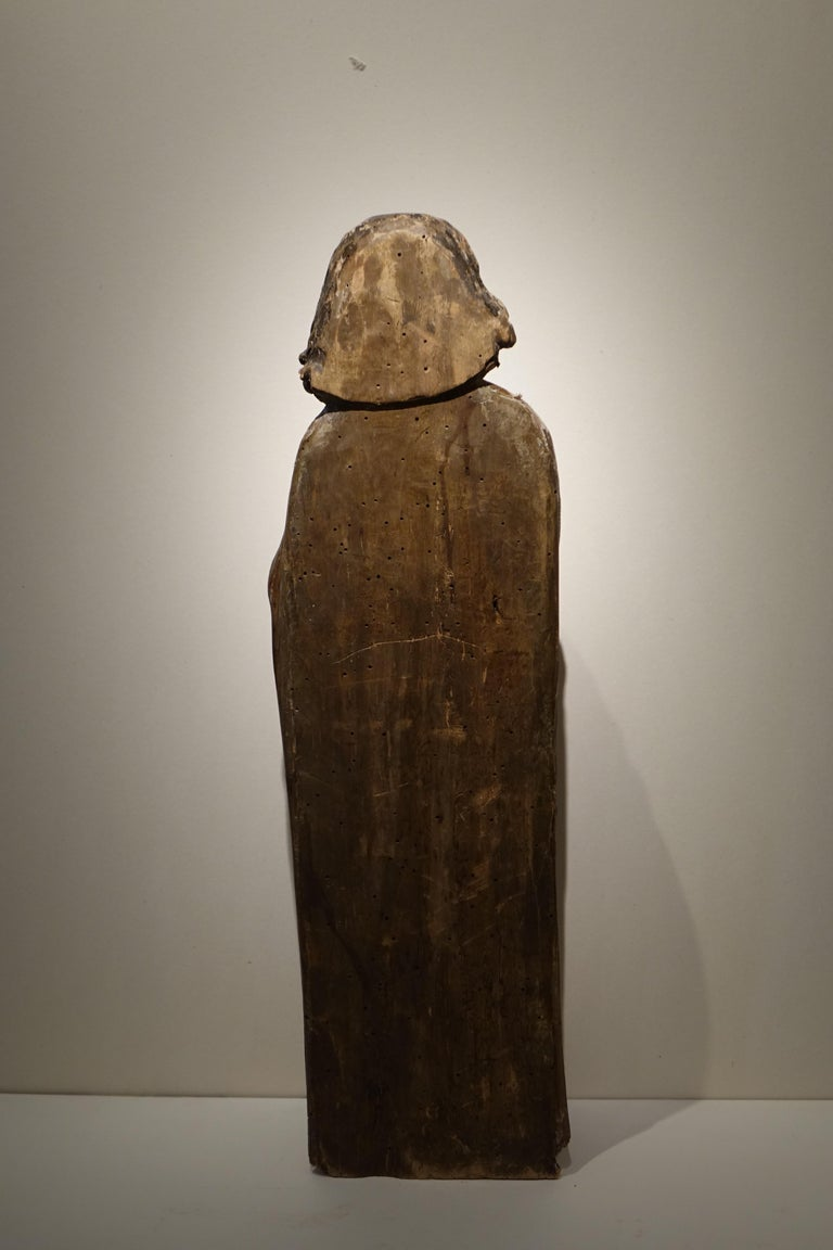 Hand-Carved Sculpture of Saint Jacques the Minor, Burgundy, France, 15th Century For Sale