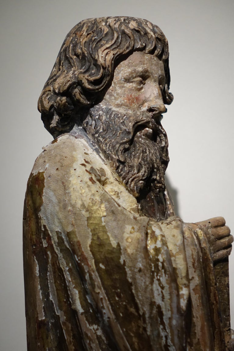 Sculpture of Saint Jacques the Minor, Burgundy, France, 15th Century In Fair Condition For Sale In Paris, FR