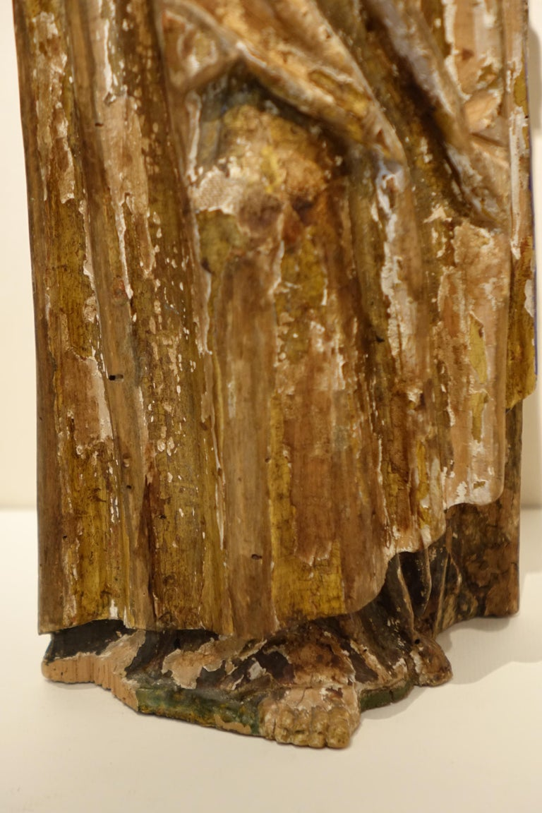 18th Century and Earlier Sculpture of Saint Jacques the Minor, Burgundy, France, 15th Century For Sale