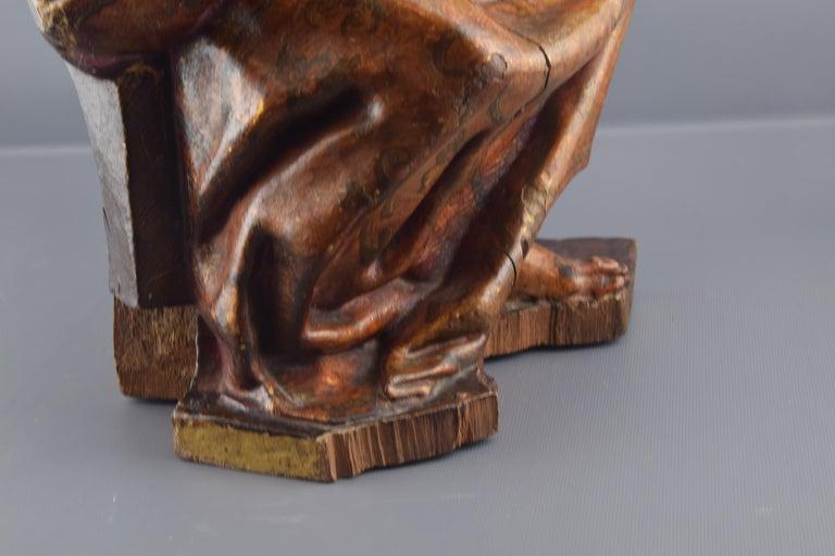 Sculpture, Polychromed Walnut, Spain, 16th Century For Sale 3