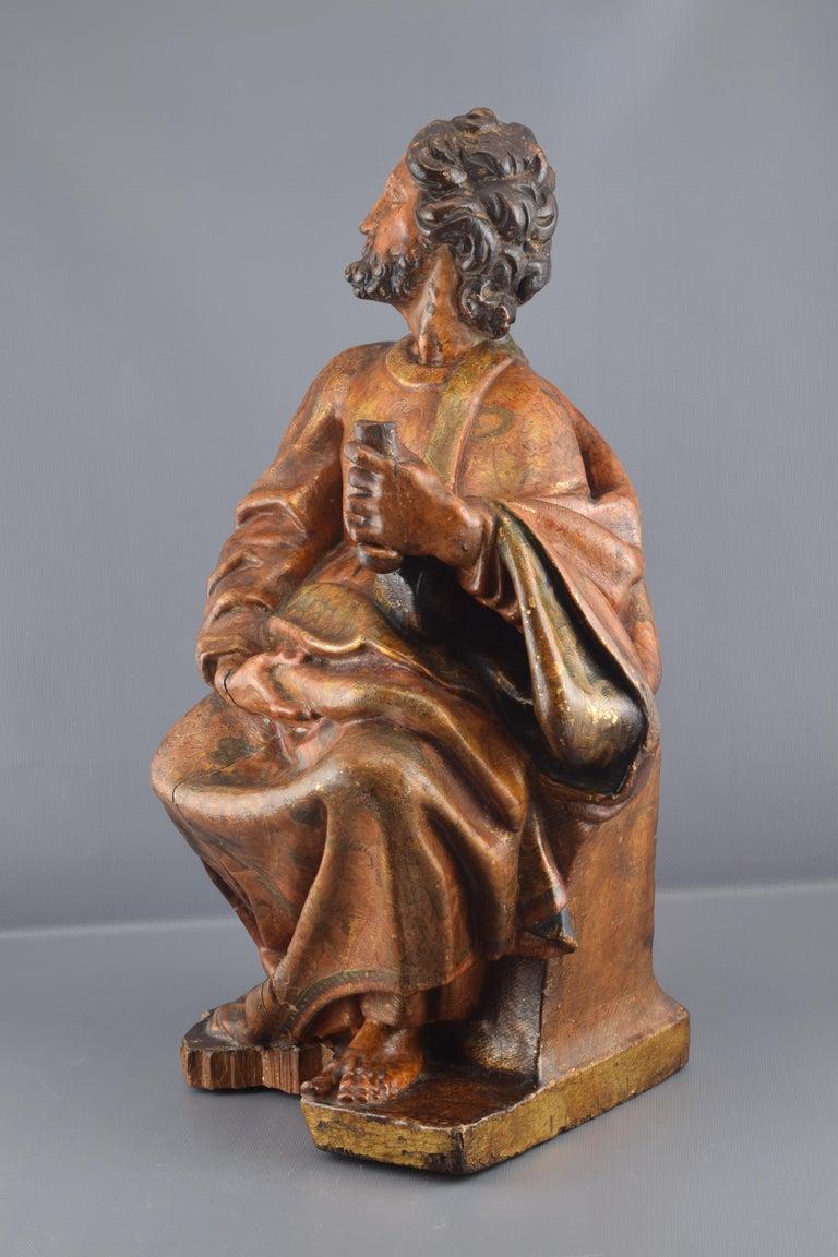 Sculpture, Polychromed Walnut, Spain, 16th Century For Sale 1