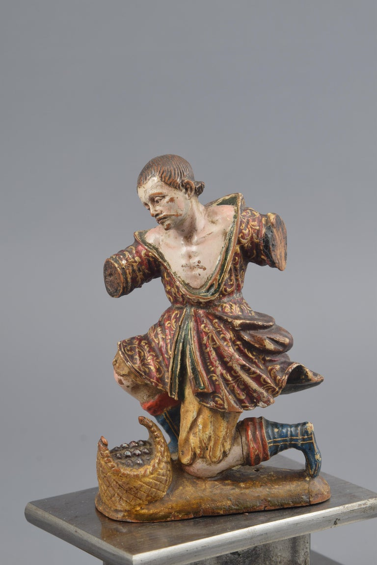 Sculpture Polychromed Wood Italy 16th Century For Sale At 1stdibs
