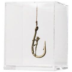 Sculpture Series - Pescador N1, CONTEMPORARY SCULPTURES IN BRASS, ACRYLIC BOX