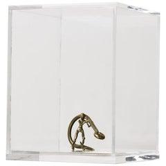 Sculpture Series - Pescador N3, CONTEMPORARY SCULPTURES IN BRASS, ACRYLIC BOX