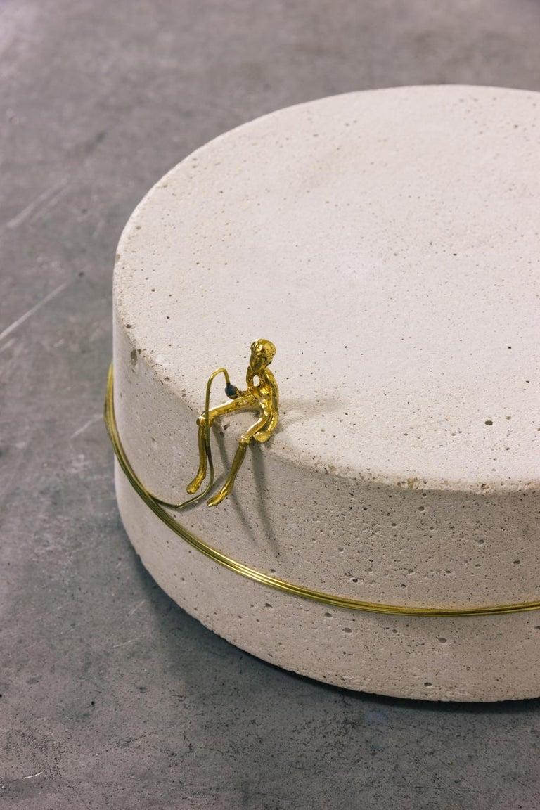 Brazilian Sculpture Series - Pescador N4, Contemporary Sculptures in Brass For Sale