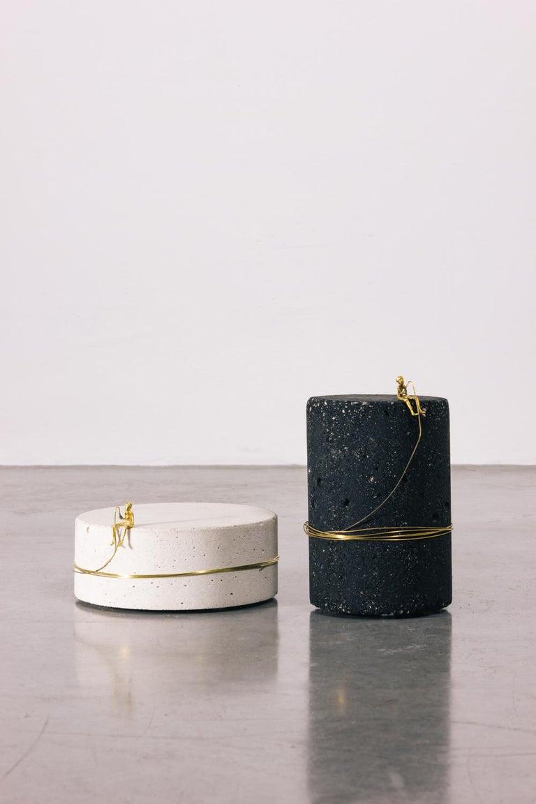 Sculpture Series - Pescador N4, Contemporary Sculptures in Brass For Sale 1