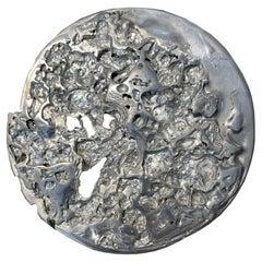 "Sculpture ""Transmutation XLA3"", Exploded Pewter in a Melting Pot"