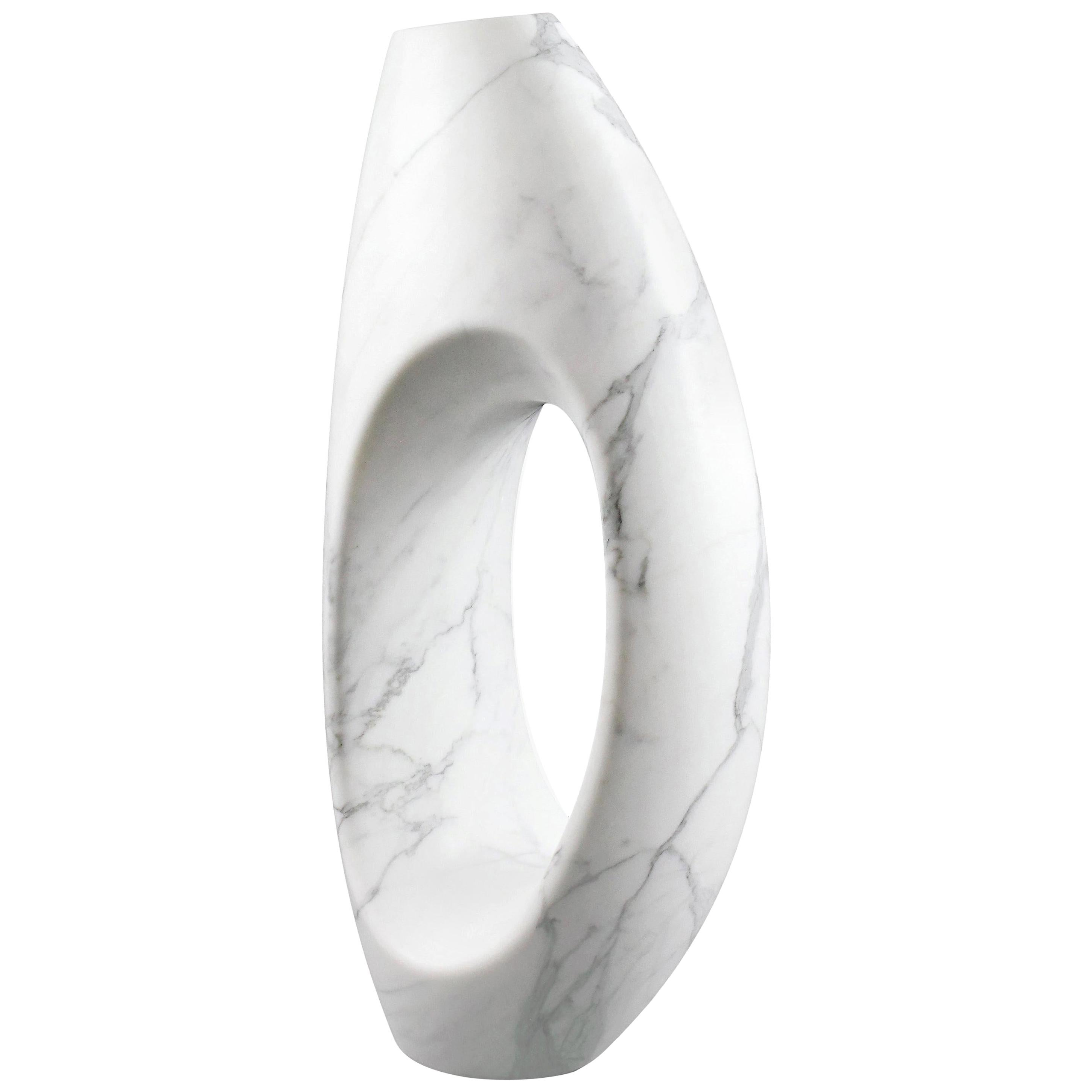 Sculpture Vase White Statuary Marble from Carrara by Pieruga Marble