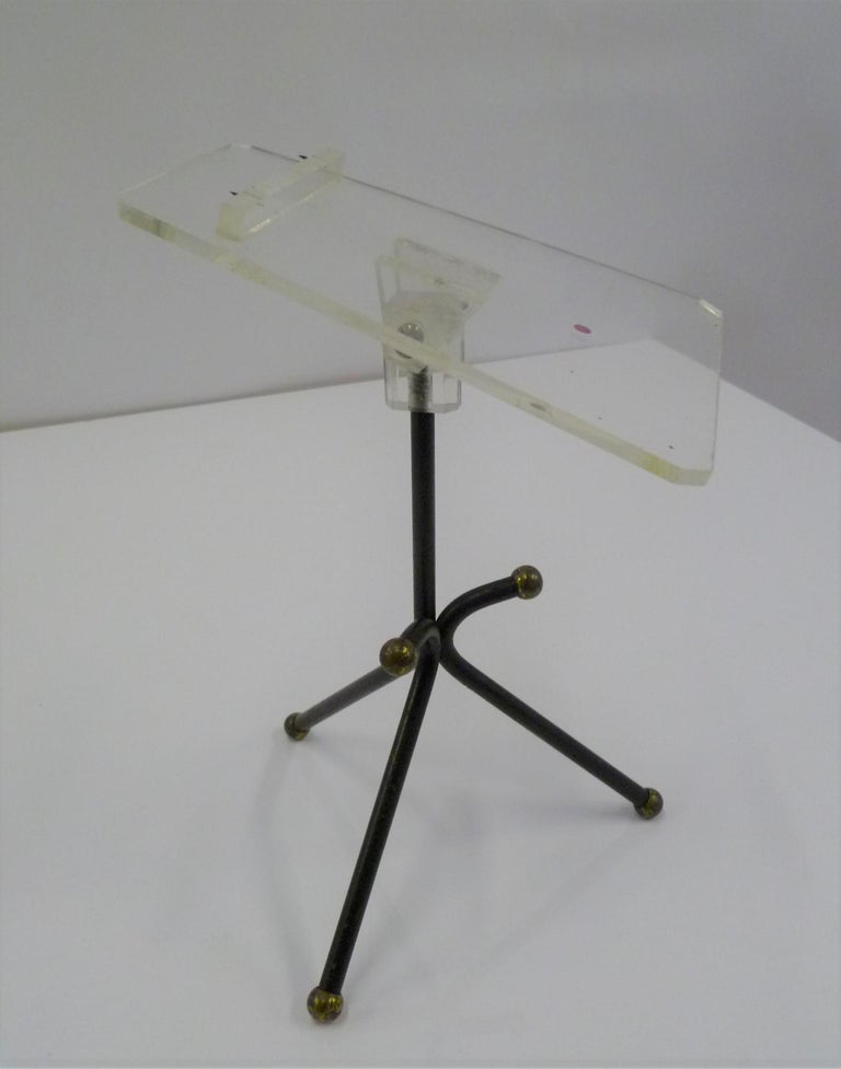 20th Century Sculptural Group of 7 Modern Black Wire Store Display Stands, 1930s-1940s For Sale