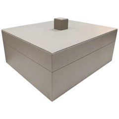 Scuretto Leather Box in Sand
