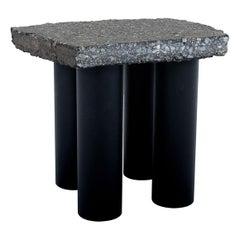 Sdanley Shen Asphalt Side Table / Stool Contemporary Design