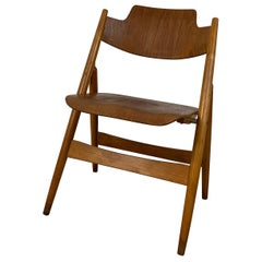 Se18 Beech Wooden Folding Chair Designed by Egon Eiermann, 1950s