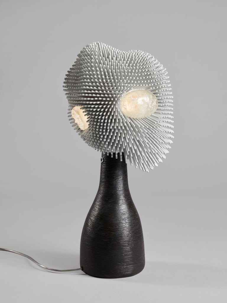 German 'Sea Anemone' Table Light with Black Bronze by Pia Maria Raeder For Sale