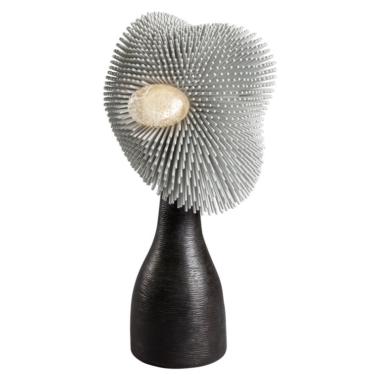 'Sea Anemone' Table Light with Black Bronze by Pia Maria Raeder For Sale