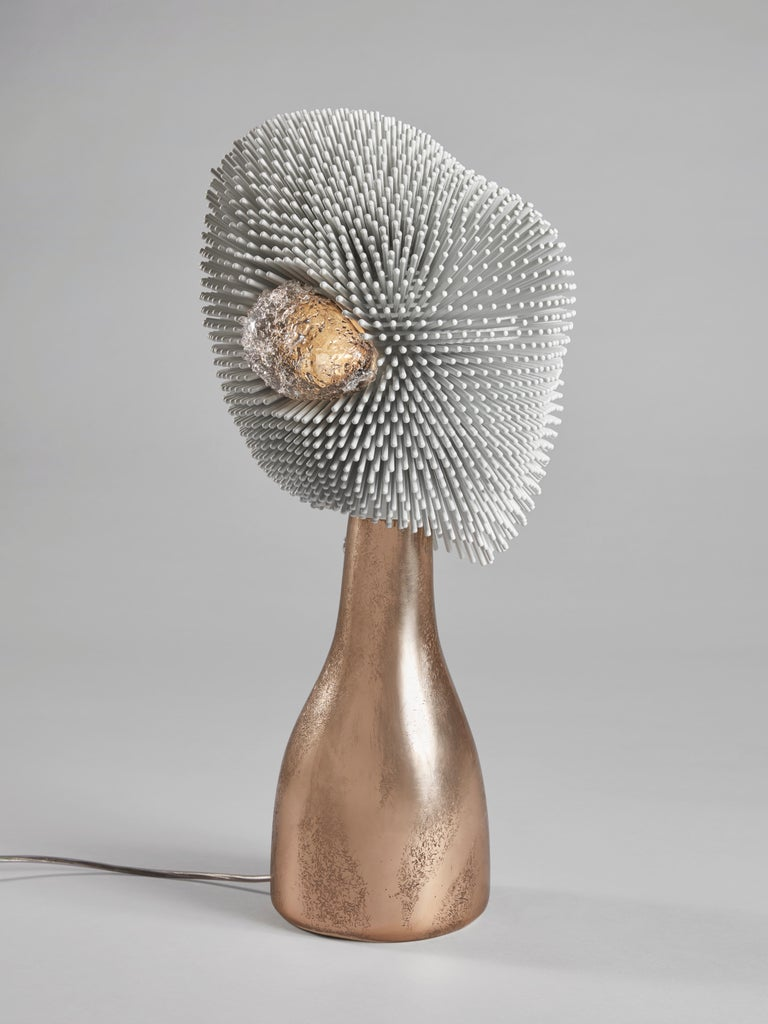 From simple beechwood rods, German artist Pia Maria Raeder creates refined functional sculptures reminiscent of biomorphic forms. She has become globally known for her 'Sea Anemone' collection that reflects the beauty found on the ocean floor. Work