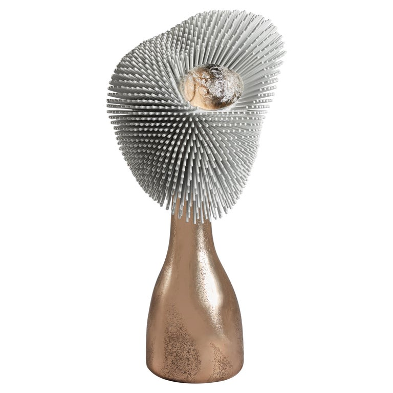 'Sea Anemone' Table Light with Golden Bronze Base by Pia Maria Raeder For Sale