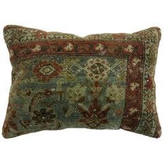 Sea Foam Terracotta Persian Antique Rug Pillow