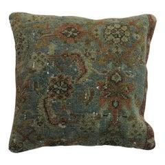 Sea Foam Terracotta Persian Traditional Wool Antique Rug Pillow