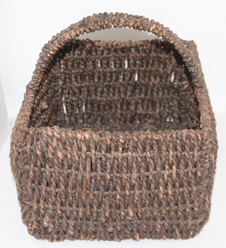 Adirondack Sea Grass Basket For Sale