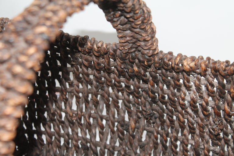 Hand-Woven Sea Grass Basket For Sale