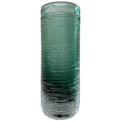 Sea Green 'Spun' Vase by Bengt Edenfalk, Skruf Sweden, 1960