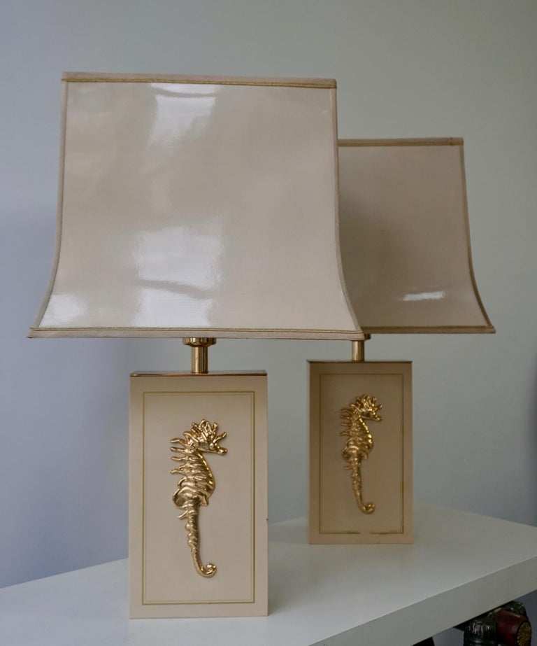 Sea Horse Set of Two Table Lamps In Good Condition For Sale In Antwerp, BE