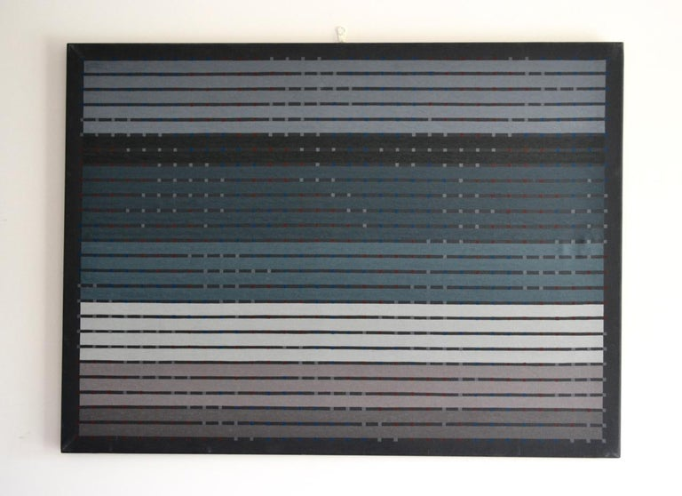 Superb abstract from this very talented British artist. Unframed  Measures: 34