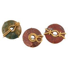 Sea Nots Gold on Jasper Brooch