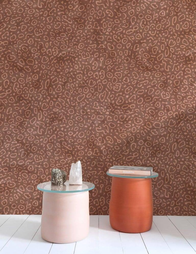 Sea Ray Designer Wallpaper in Nizina 'Bright Copper and Rust' In New Condition For Sale In Brooklyn, NY