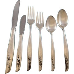 Sea Rose by Gorham Sterling Silver Flatware Set 12 Service 79 Pieces Modern