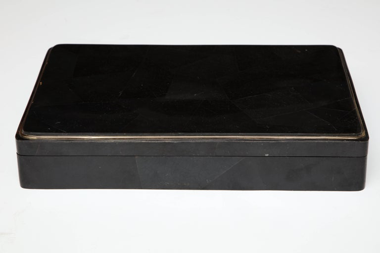 Backgammon Game, Sea Shell and Shagreen Details, Contemporary, in Stock In Good Condition For Sale In New York, NY