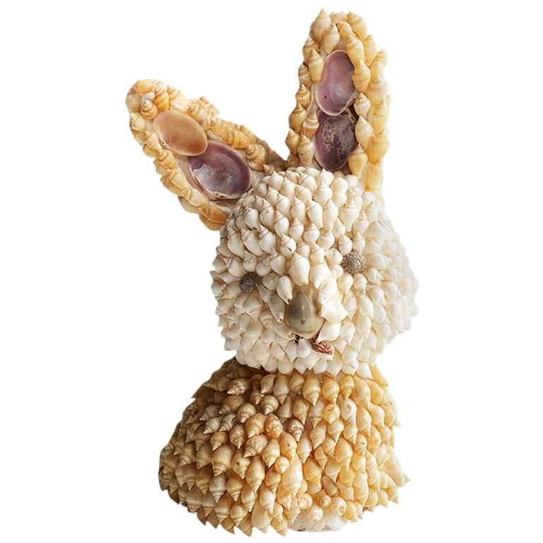Sea Shell Encrusted Bunny Rabbit