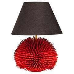Sea Urchin Lamp Red