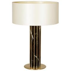 Seagram Table Lamp, Nero Marquina Marble, InsidherLand by Joana Santos Barbosa